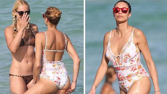 Lilly Becker na pláži v Miami
