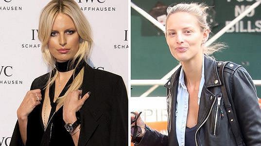 Karolína Kurková a Michaela Kociánová. Tyto fotky byly použity jako příklad nalíčené a nenalíčené varianty jedné osoby.