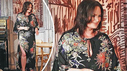 Jitka Čvančarová si oblékla šaty, ve kterých moc parády neudělala...