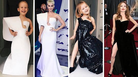 Stefanie kopíruje outfity celebrit.