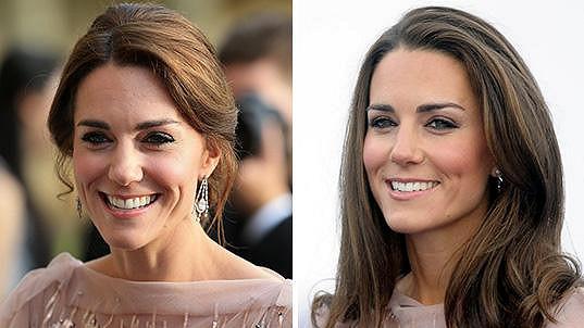 Vévodkyně z Cambridge nyní a před pěti lety.
