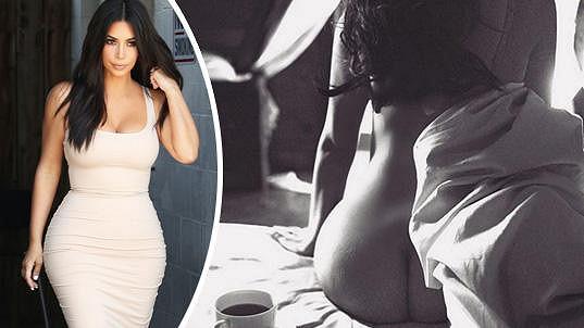 Kim Kardashian opět vsadila na své pozadí.