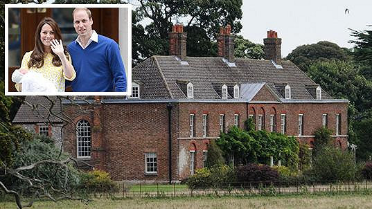 Panství Anmer Hall v Sandringhamu na východě Anglie je útočištěm nově již čtyřčlenné královské rodiny.