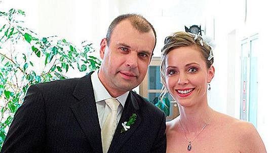 Petr Rychlý s jednou ze svých seriálových partnerek Markétou Plánkovou