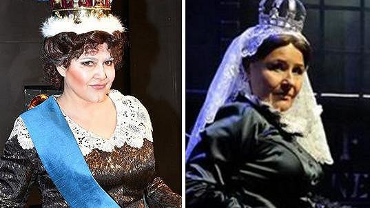 Ilona Csáková a Jitka Zelenková v kostýmu britské panovnice Viktorie