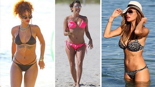 Tyto slavné dámy jsou v bikinách mimořádně sexy.