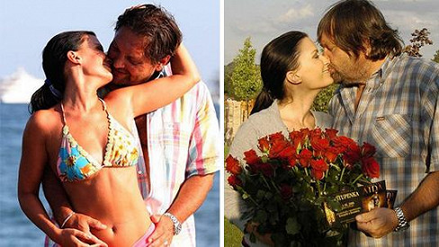 Gabriela Partyšová a Josef Kokta v dobách, kdy byli do sebe zamilovaní až po uši.