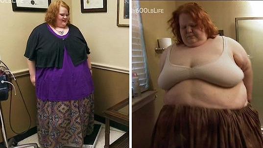 Na fotografii vlevo je Nikki o 100 kilogramů lehčí.