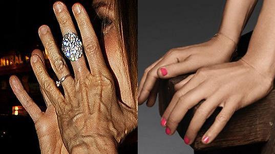 Komu grafici v reklamě značně vylepšili ruce?