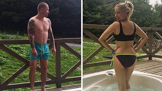 Kateřina Kristelová a Tomáš Řepka relaxovali na Slovensku.