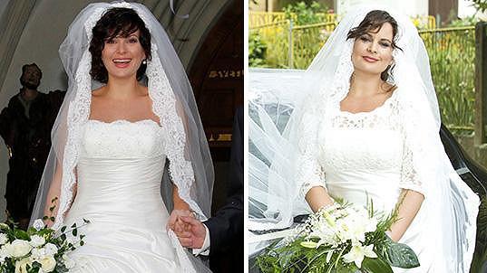 Jitka Čvančarová zářila ve svatebních šatech.
