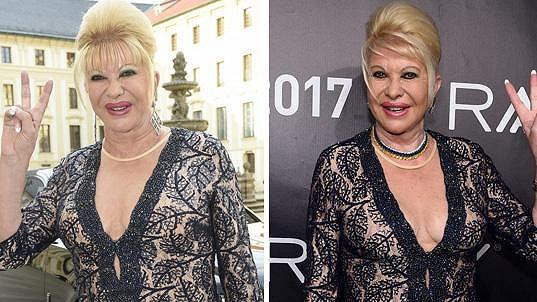 Ivana Trump se po Praze ve stejném duchu předvedla i v New Yorku.