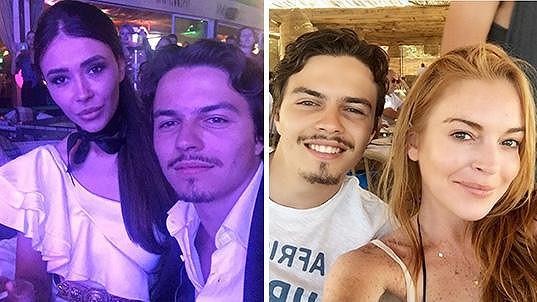 Egor Tarabasov už se fotí se svou novou slečnou (vlevo)...