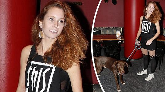 Denisa Nesvačilová a její pes Čestmír