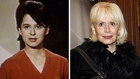 Helga Čočková v roce 1962 a dnes