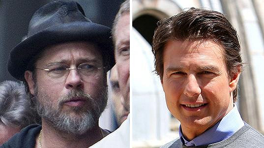 Tom Cruise a Brad Pitt dnes