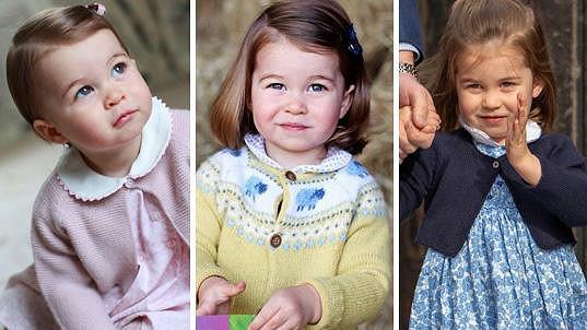 Princezna Charlotte slaví třetí narozeniny.