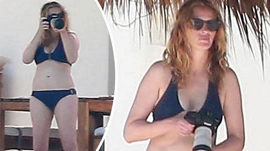 Julia Roberts na dovolené v Mexiku