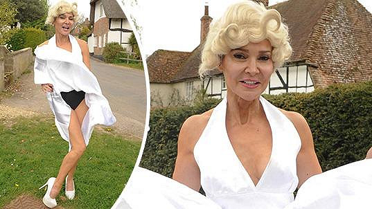 Lizzie Cundy coby Marilyn Monroe