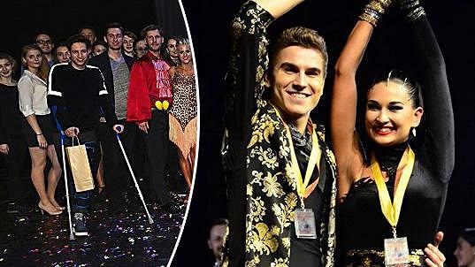 Peroutka zvládl účast v taneční soutěži s hendikepem.