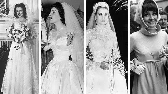 Marilyn, Liz, Grace a Audrey jako nevěsty