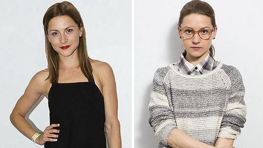 Hana Kusnjerová v civilu a ve své roli