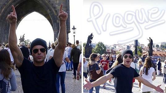 Zac Efron je v Praze!