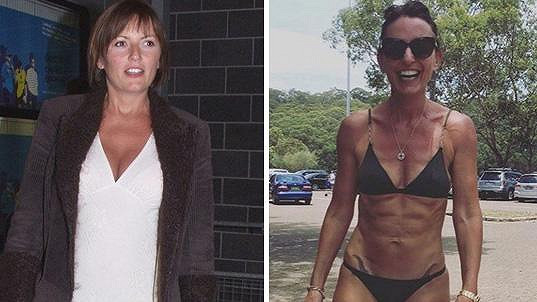 Davina McCall v roce 2001 a loni