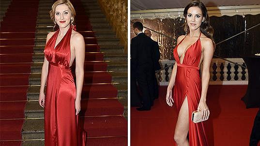 Zorka Hejdová a Karolína Ludvíková v podobných šatech