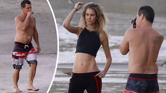 Josh Brolin se na svou manželku nemůže vynadívat.