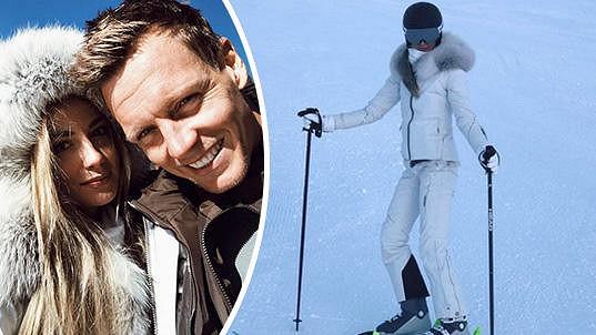 Ester Berdych Sátorová si užívala na lyžích v Rakousku.