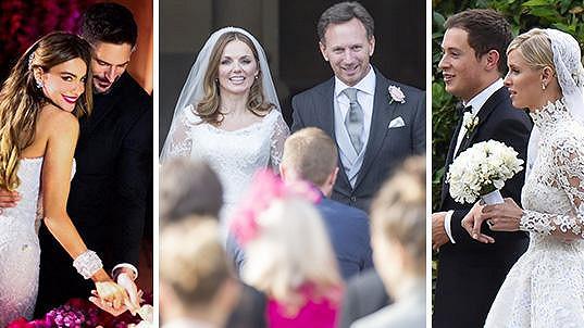 Svateb slavných bylo v roce 2015 požehnaně...