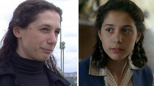 Sylva Tománková v roce 2017 a v roce 1993
