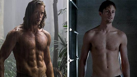 Alexander kvůli roli Tarzana pořádně zmohutněl.