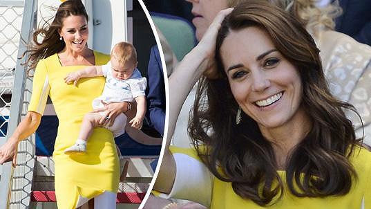 Kate po dvou letech oblékla stejné žluté šaty.