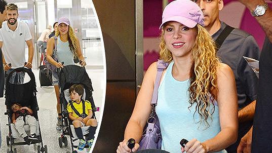Shakira odletěla s rodinkou na dovolenou.