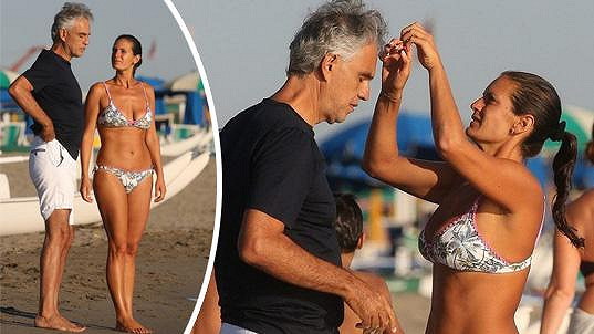 Andrea Bocelli s manželkou Veronicou Berti