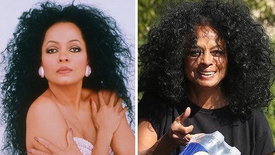Diana Ross má stále bujnou hřívu.