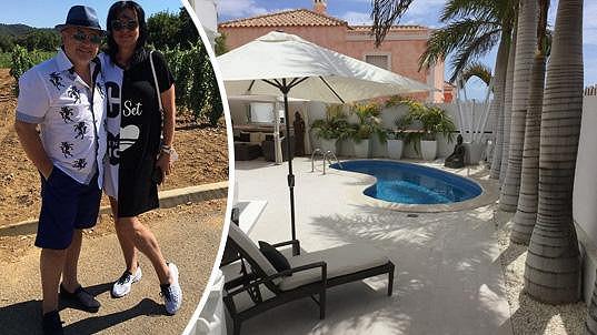 Michal David s manželkou si pořídili dům ve Španělsku.