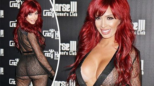 V tomto outfitu byla Farrah hostem klubu Crazy Horse v Las Vegas.