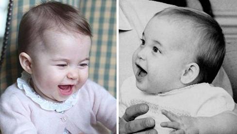 Princ William (vpravo) a jeho dcera Charlotte