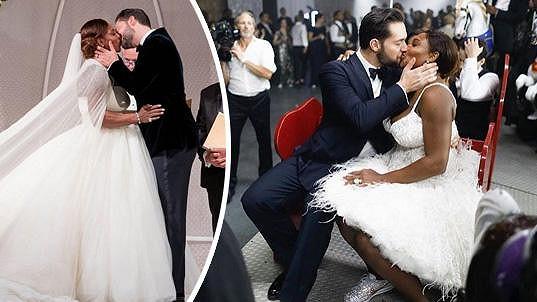 Serena se vdávala v šatech a špercích za 76 miliónů.