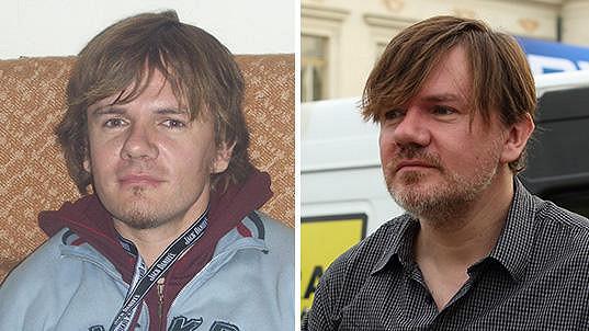Michal Hrůza v roce 2004 a dnes