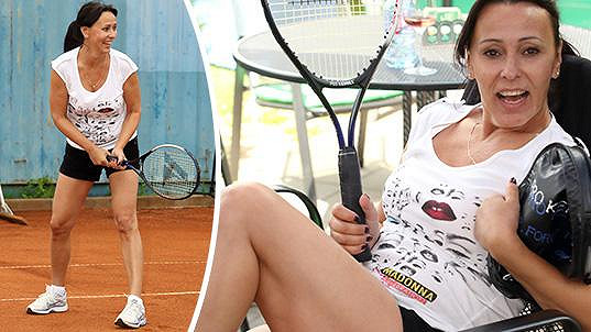Heidi Janků na tenisovém turnaji celebrit