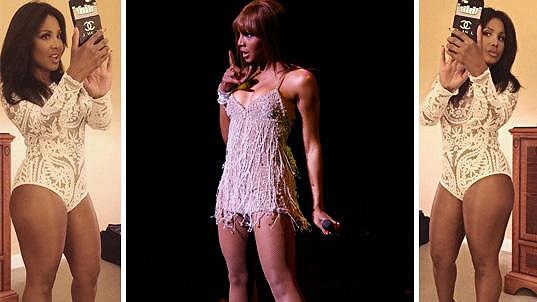 Toni Braxton stále ukazuje stehna, ale už to není, co to bývalo.
