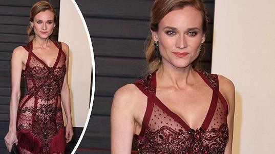 Diane Kruger oblékla průsvitné šaty.