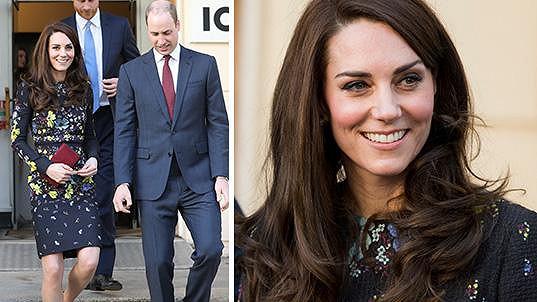 Vévodkyně z Cambridge v Londýně oslnila bohatým účesem.