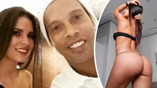 Ania Gadea a Ronaldinho na romantické večeři