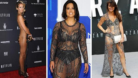 Zleva lady Victoria Hervey, Ashley Graham a Lizzie Cundy