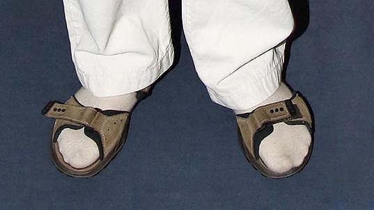 Který český zpěvák nosí ponožky v sandálech?